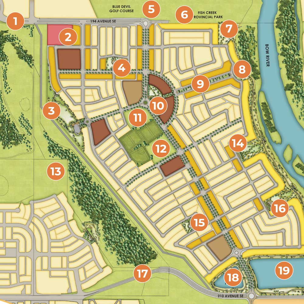 Wolf Willow Amenities Map