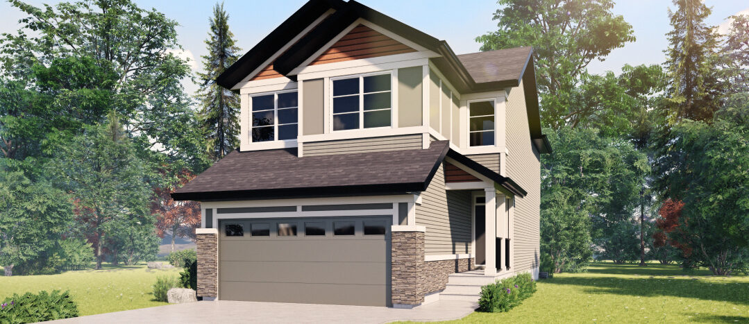 photo of a front garage home in wolf willow